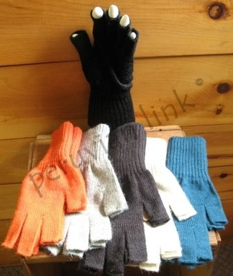 Fingerless Knit Alpaca Gloves