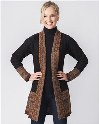 Black Diamond Alpaca Long Cardigan