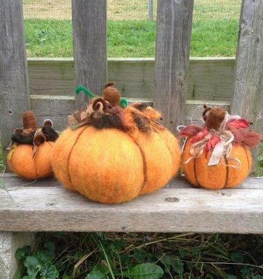 Pumpkin Needle Felting Class