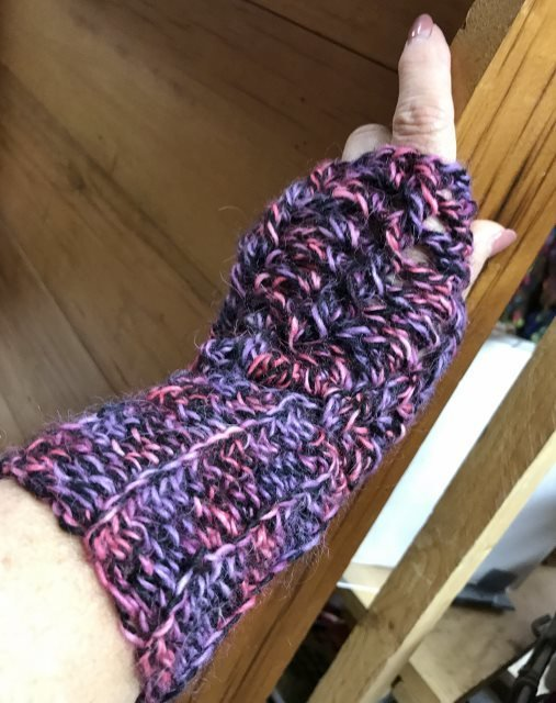 Twisted Stitch Fingerless Gloves - Swizzle