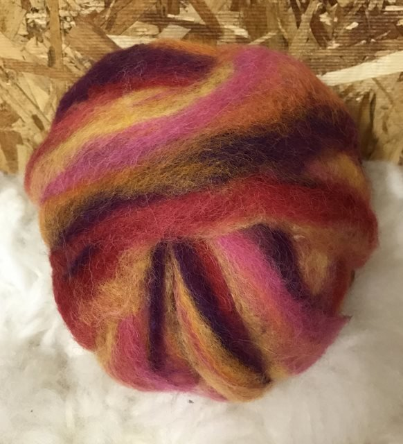 Alpaca Wool Roving - Island Sunset