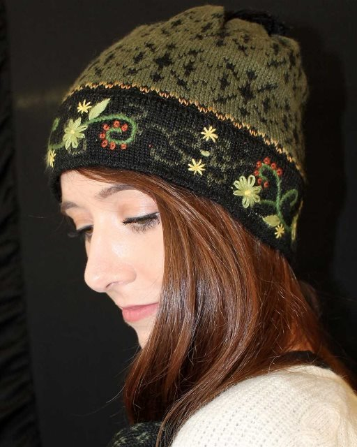 Fern Lined Alpaca Hat 17967