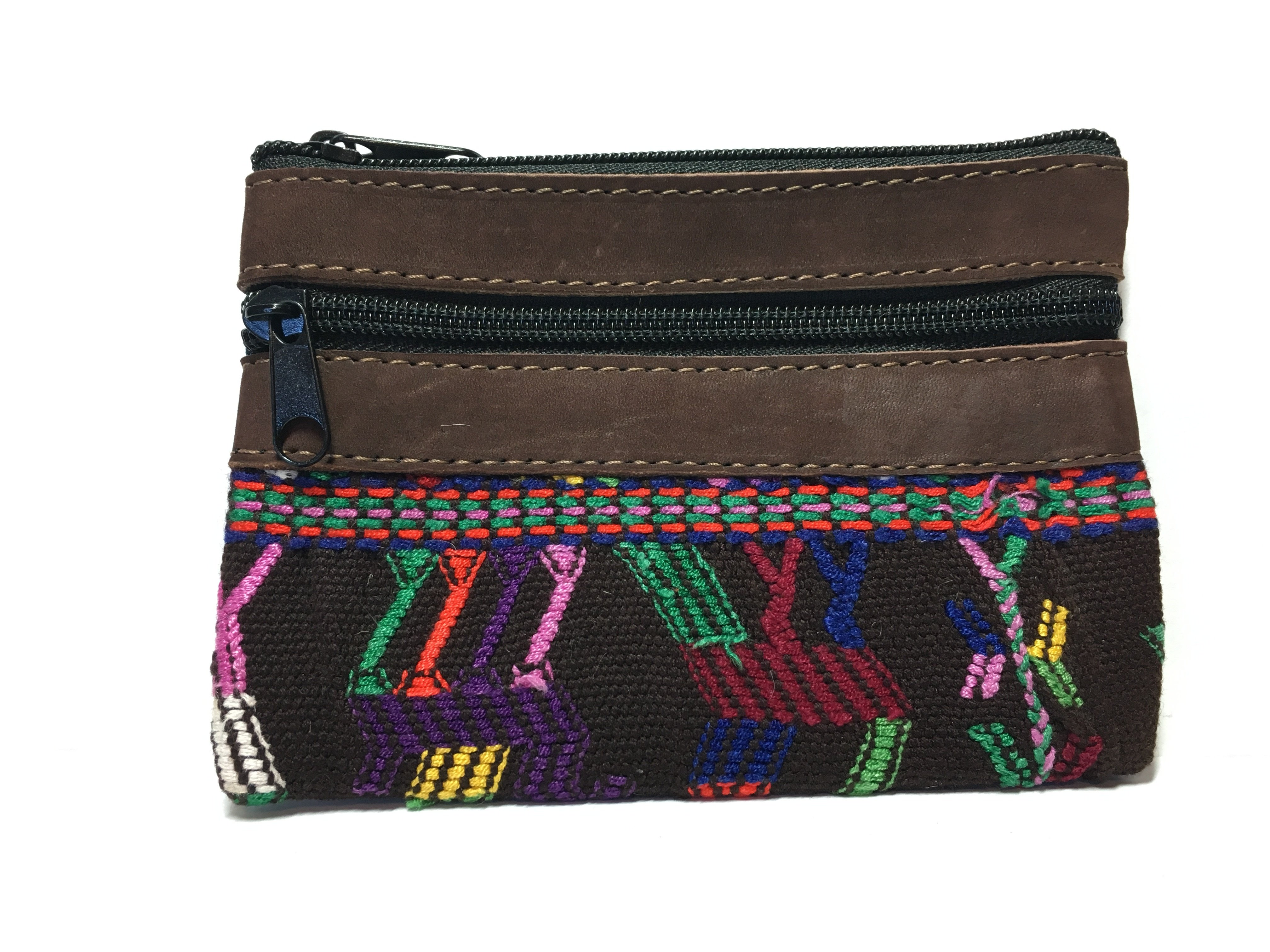 Handwoven and Leather Coin Purse 18045