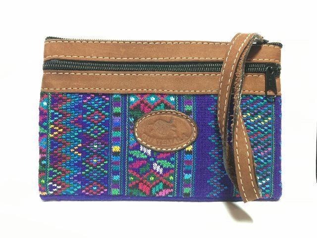 Handwoven and Leather Clutch 18174