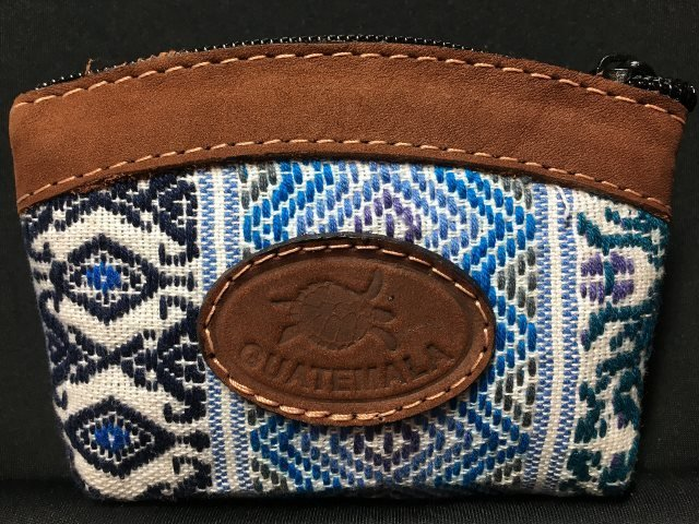 Handwoven and Leather Mini Coin Purse 18046