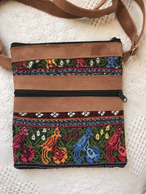Handwoven and Leather Shoulder Bag