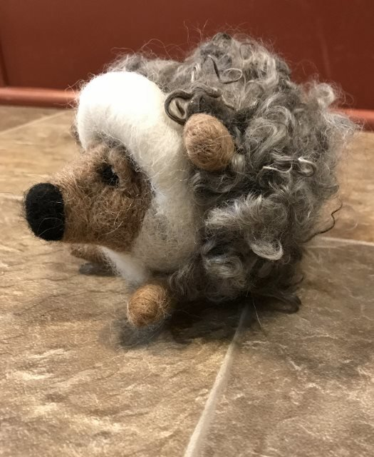 Hedgehog Needle Felting Class