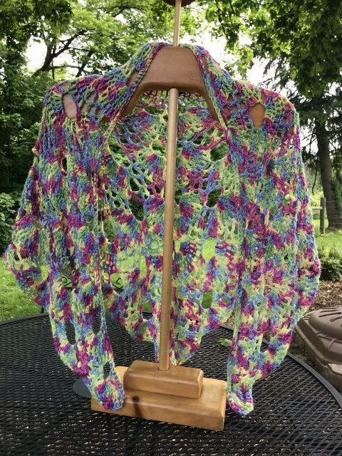 Virus Alpaca Shawl - Playful