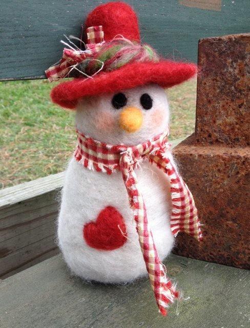 Snowman Felting Class 17646