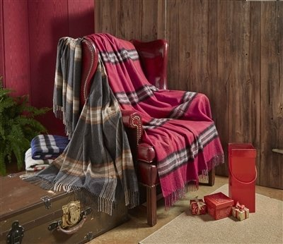 Home Collection Plaid 100% Baby Alpaca Throw