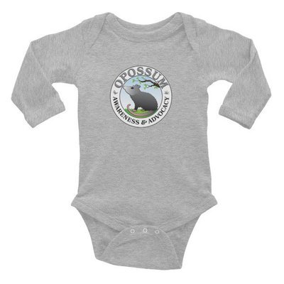 Opossum Baby Onesie - Long Sleeved (3 colors)