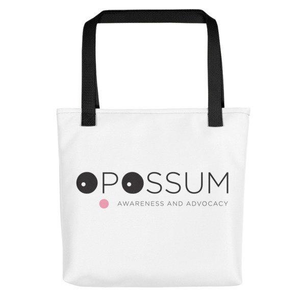 "Opossum Tote Bag - Modern Logo - 15"" x 15"""