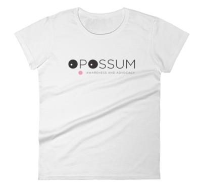 Women's Short Sleeve T-Shirt - Modern Opossum Logo -  (4 colors)