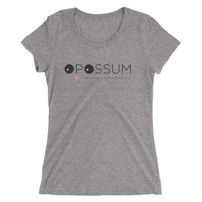 Women's Heather Scoop Neck T-Shirt - PLEASE READ DESCRIPTION, RUNS 2 SIZES SMALL - Modern Logo (6 colors)