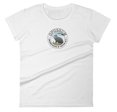 Women's Short Sleeve T-Shirt - Classic Opossum Logo -  (12 colors)