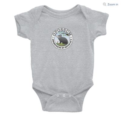 Infant Short-Sleeve Onesie - Classic Opossum Logo -  (4 colors)