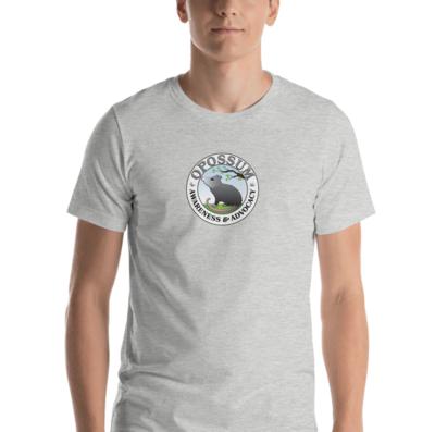 Heather Opossum Logo Unisex T-Shirt  (10 colors)