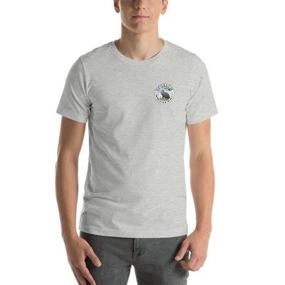 Left Breast Classic Opossum Logo - Heather Short-Sleeve Unisex T-Shirt - (10 colors)