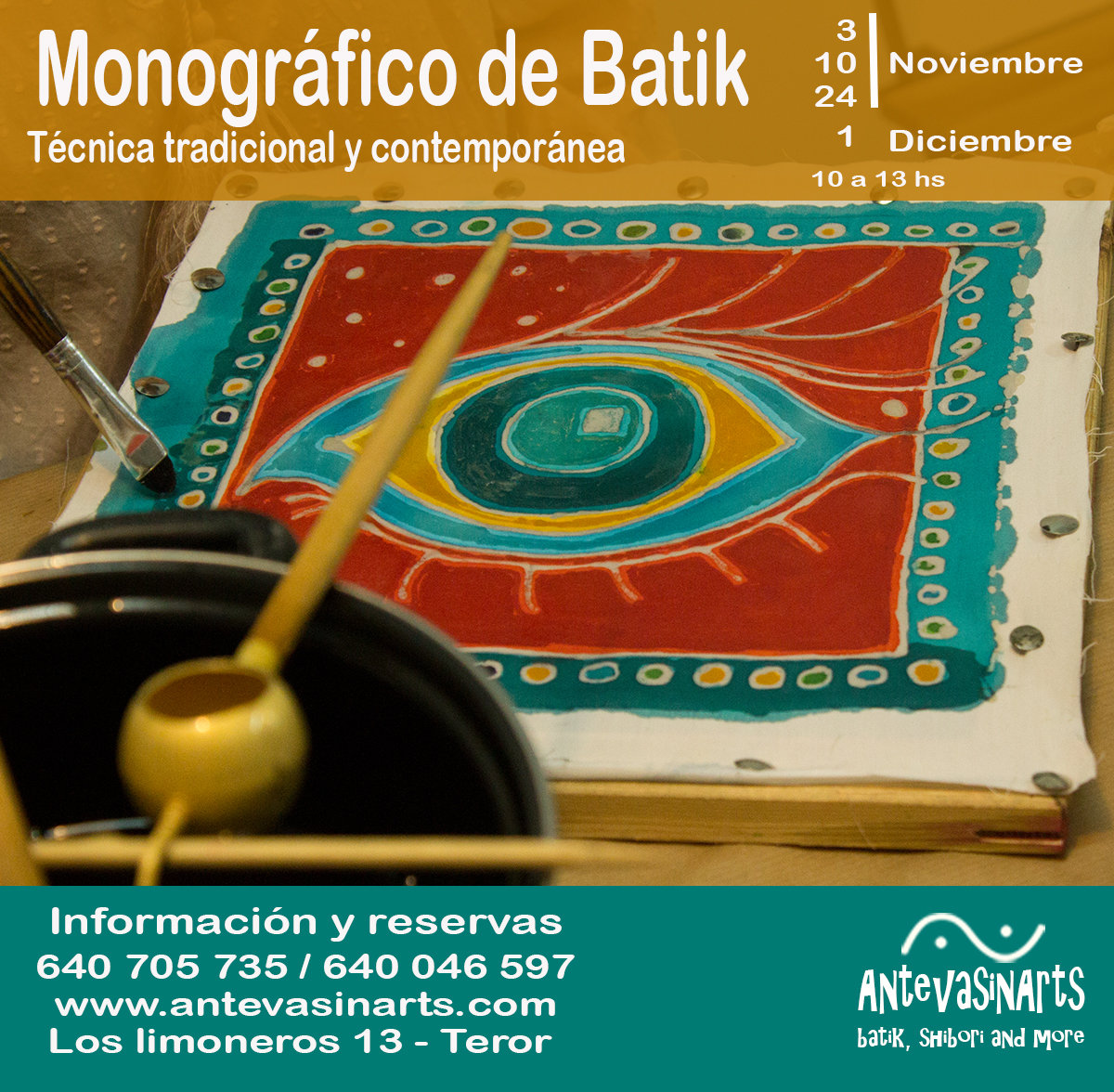 Monográfico Batik - Sábado 24 de Noviembre