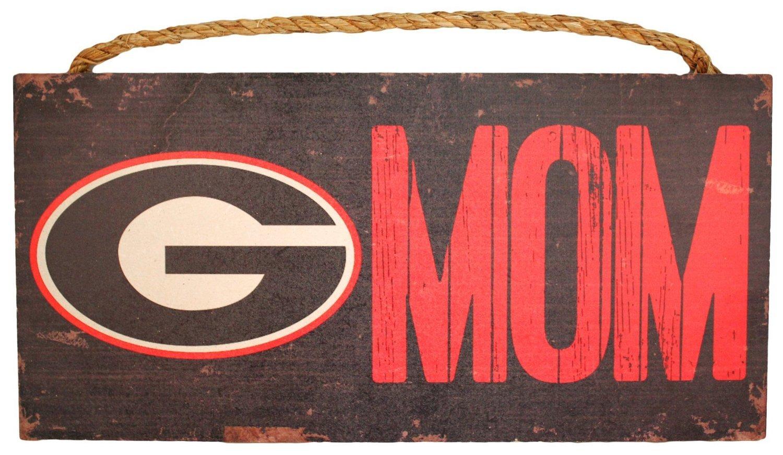 Georgia Bulldogs Mom Wood Sign