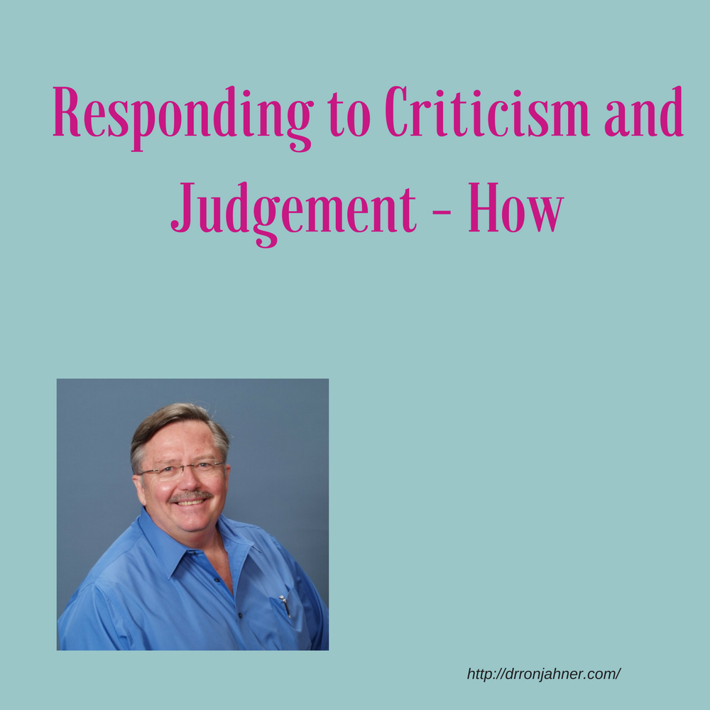 Responding to Criticism and Judgement - How 00057