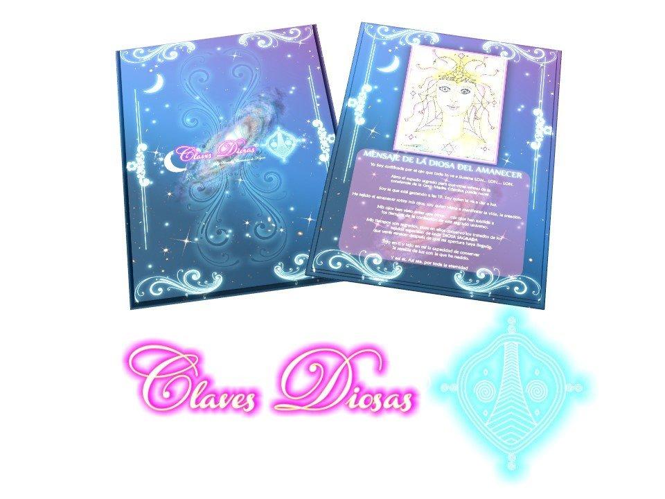 Cartas Arquetipos de las Claves diosas Pleyadianas 20 Cartas en tamaño A5 con el mensaje de la Diosa