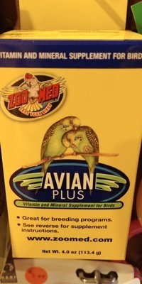 AVIAN PLUS Vitamin, Mineral Supplement 4 OZS.