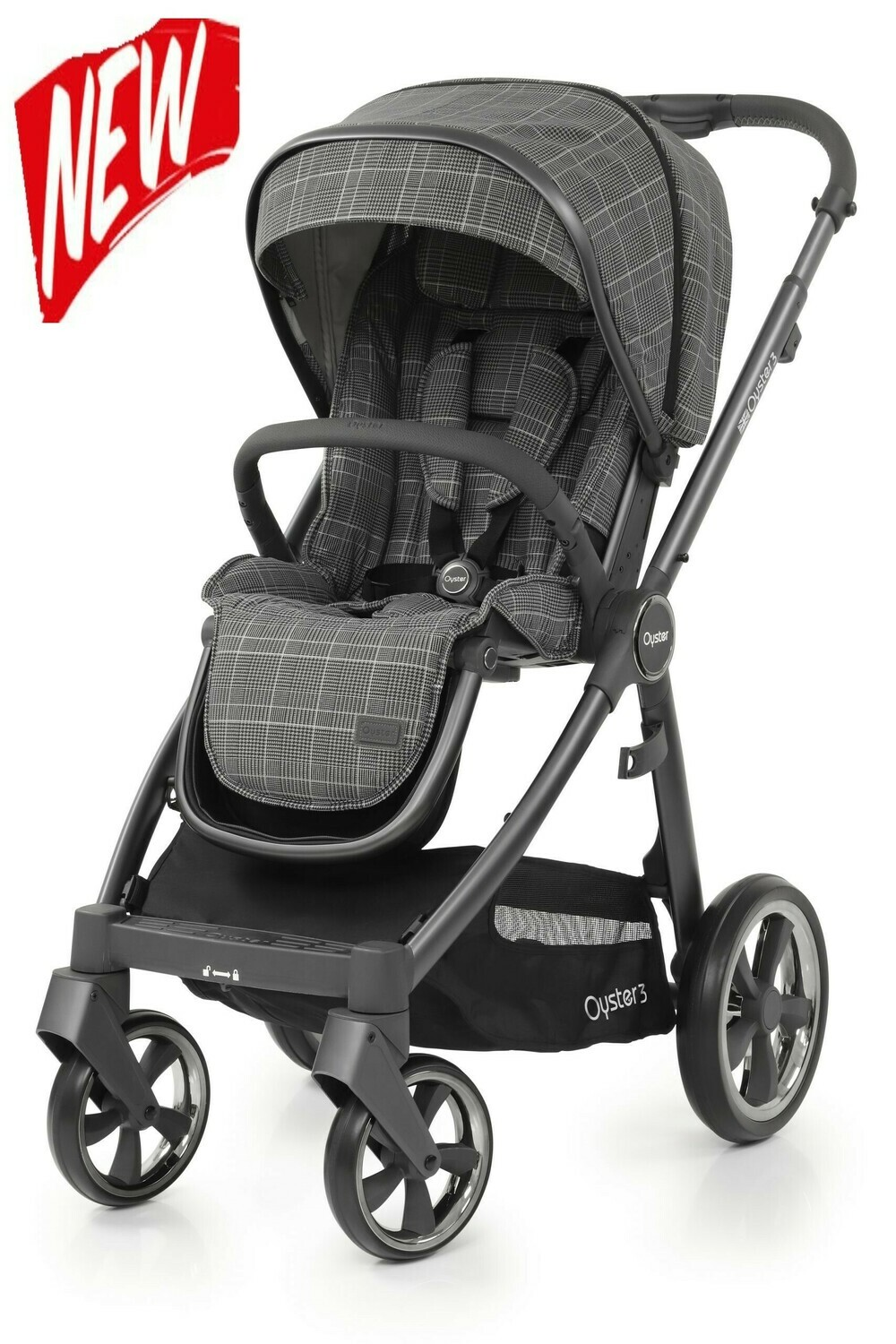 Babystyle Oyster 1 Stroller Pushchair Black Seat Pad Cover Fabric Liner Unit