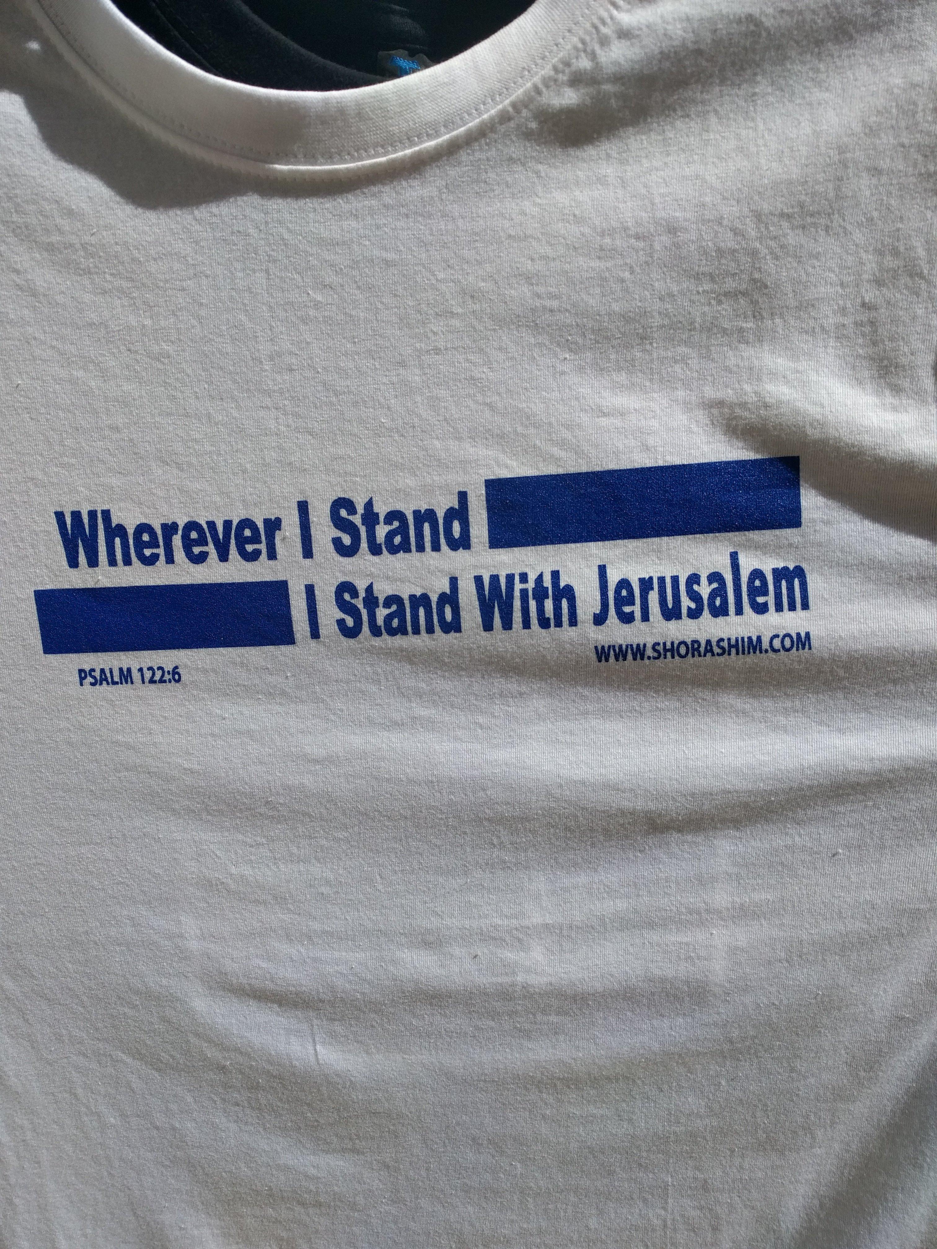 Solidarity With Jerusalem T Shirt PO101