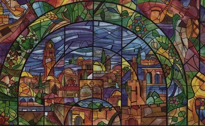 Jerusalem Stained Glass Window