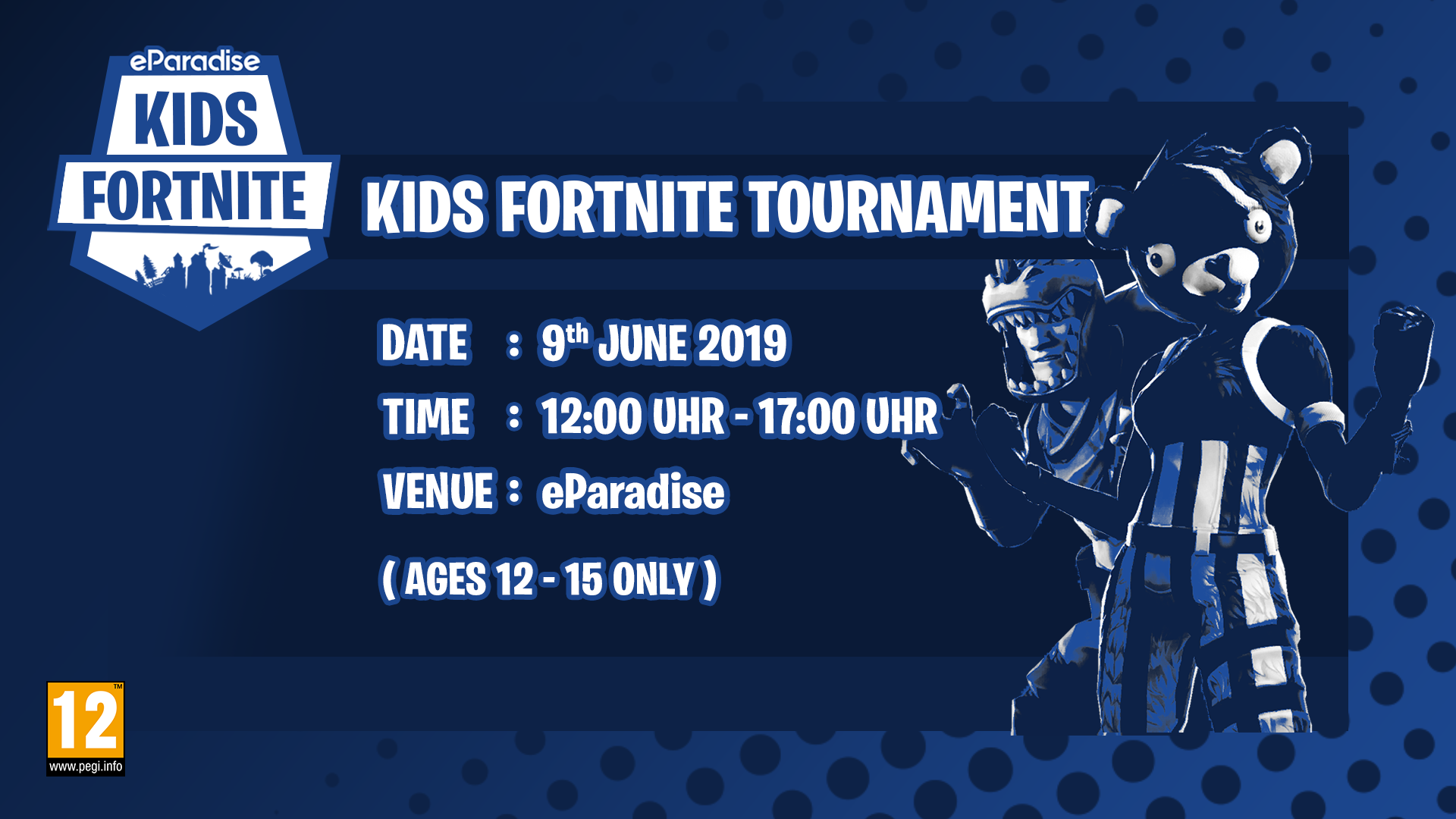 eParadise Kids Fortnite Tournament (12-15 Jahre ) 2019090601
