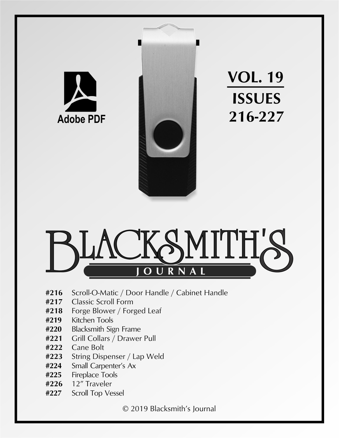 USB Flash Drive - Blacksmith's Journal Vol. 19