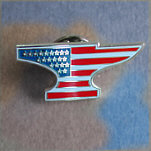 Anvil Flag Lapel Pin