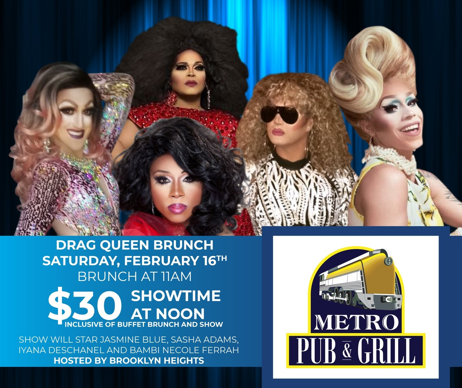 Drag Queen Brunch - February Bar Seating