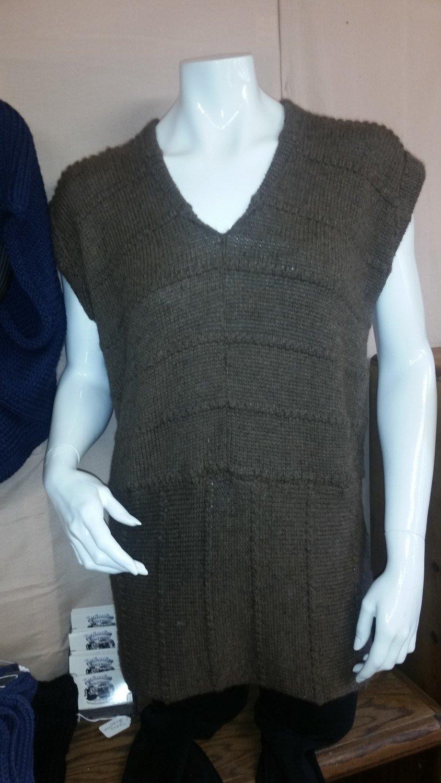 Long Brown  Vest