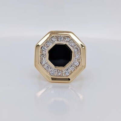Estate 14kt Yellow Gold Art Deco Ring