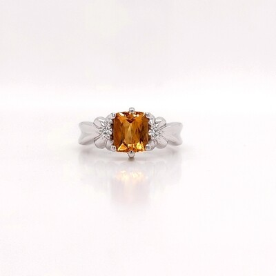 14kt White Gold Citrine Ring