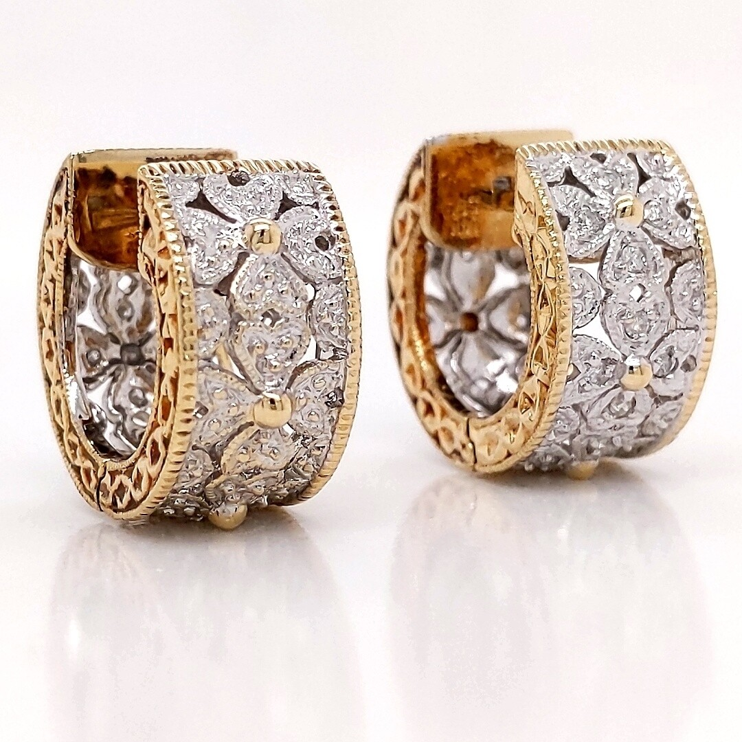 14kt Two-Tone Ear Huggers