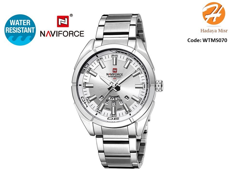 Naviforce Water Resistant Analog Watch for Men ساعة رجالي عقارب