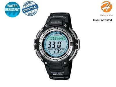 Casio Men's SGW100-1V Twin Sensor Digital Black Watch ساعة كاسيو رجالى