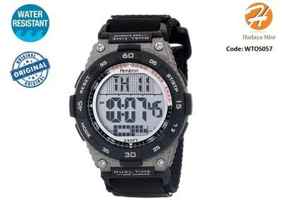 Armitron Sport Men's 40/8330BLK Brown Accented Digital ساعة رياضية من ارميترون