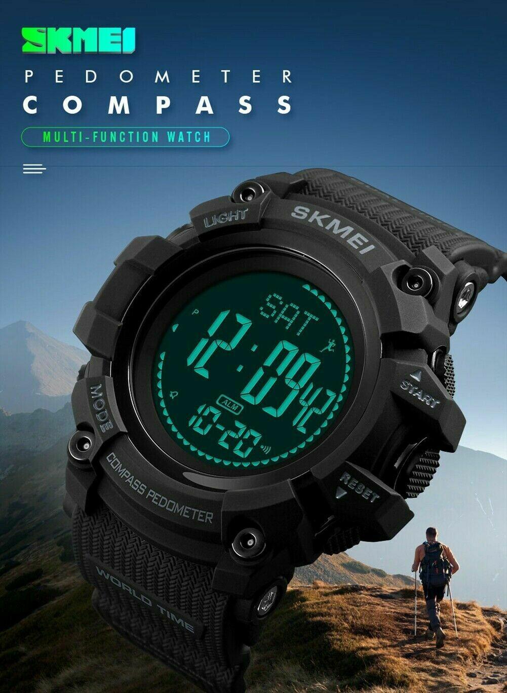 SKMEI Sport Water Resistant Digital Watch - Multi Sensors