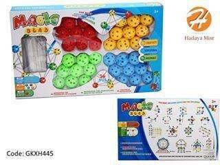 لعبة تكوين الاشكال كور/ستيكات - بلاستيك 70 قطعه