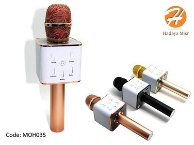 مكبر صوت لاسلكي يمكن حمله باليد بلوتوث لاجهزة ميكروفون الهواتف الذكية