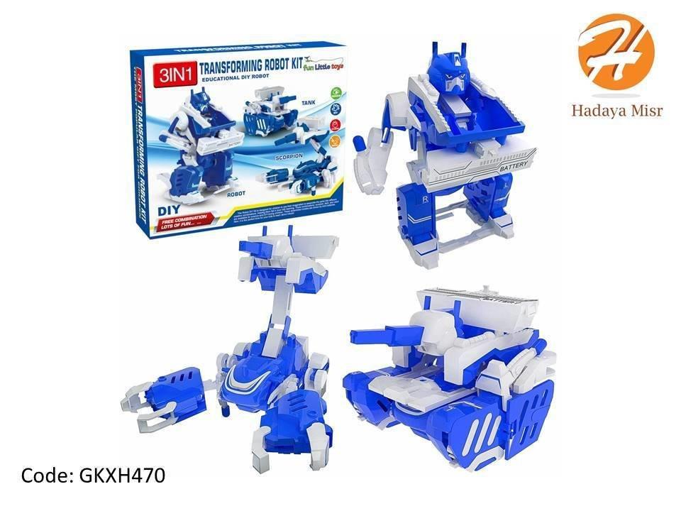 لعبة الروبوتات المتحولة - 3 أشكال في لعبه واحده