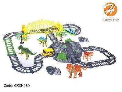 لعبة تراك السيارات الممتعه (حديقة الحيوان) - 44 قطعه