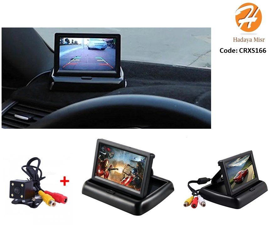 "4.3""  TFT LCD foldable car rearview monitor with Camera شاشة + كاميرا"