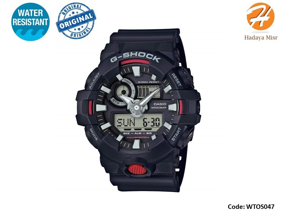 Casio Men's 'G Shock' Watch Model: GA-700-1ACR ساعة كاسيو رجالى