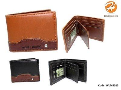 Leather Wallet For Men محفظة جلد رجالي