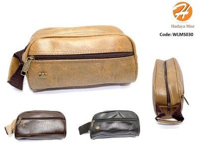 Leather hand bag For Men شنطة يد رجالي جلد